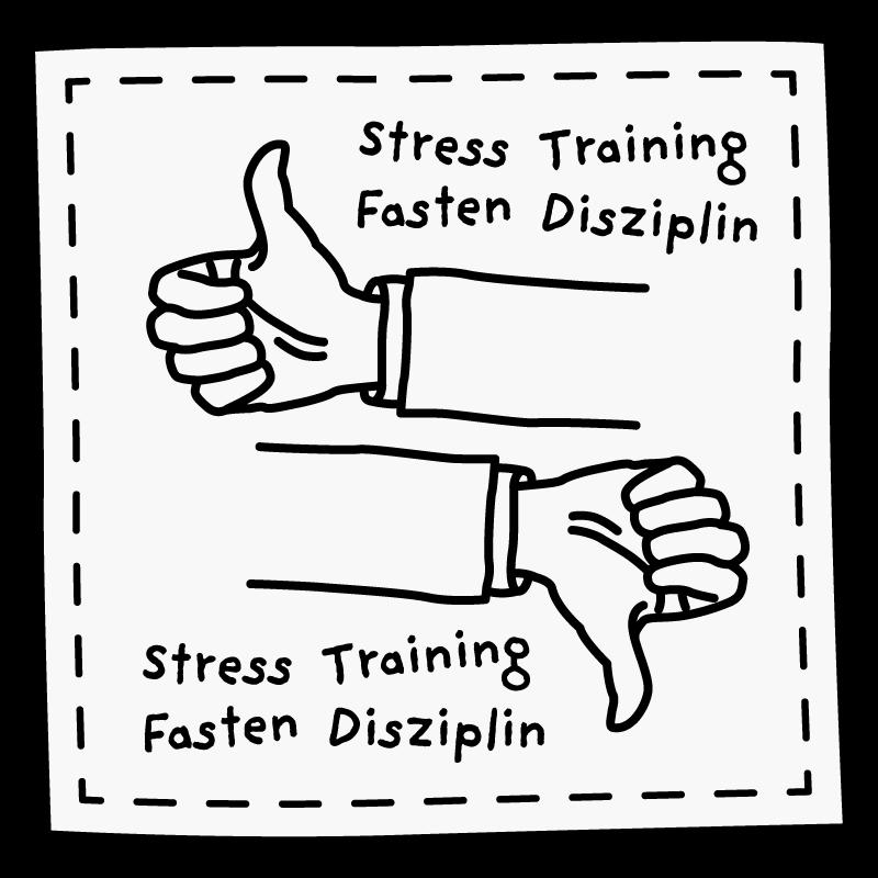 Stress, Training, Fasten & Disziplin